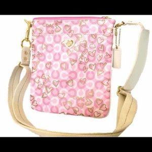 Pink Coach Heart Crossbody